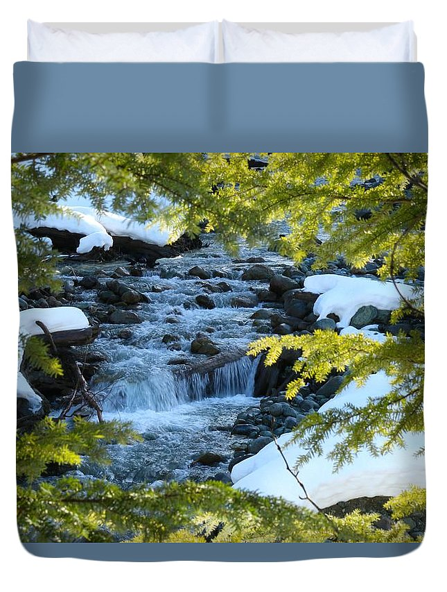 Nature Duvet Cover featuring the photograph Creek by Lisa Spero