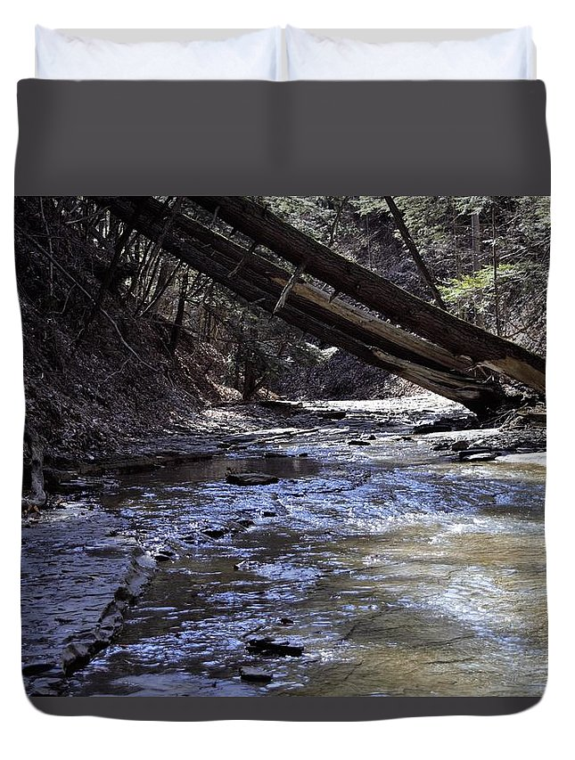 Water Duvet Cover featuring the photograph Creekside by Christina McNee-Geiger