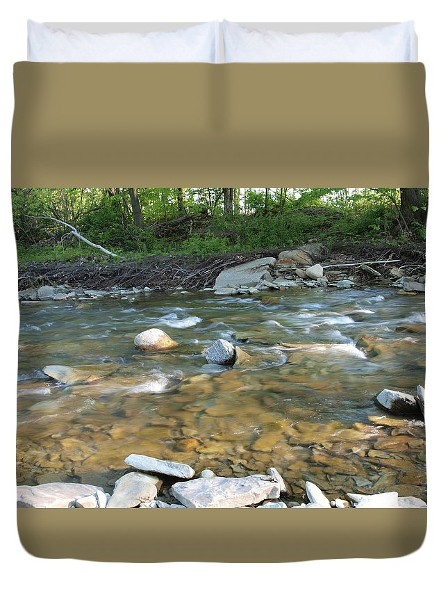 Water Duvet Cover featuring the photograph Creekside by Joy Leninsky
