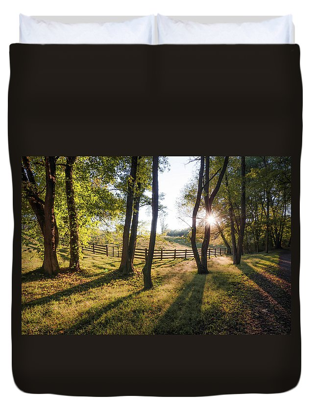 Landscape Duvet Cover featuring the photograph Creeper Sunset by Jim Love