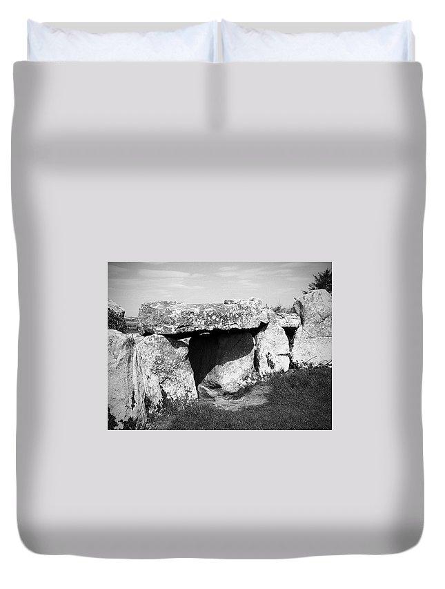 Ireland Duvet Cover featuring the photograph Creevykeel Court Cairn County Sligo Ireland by Teresa Mucha