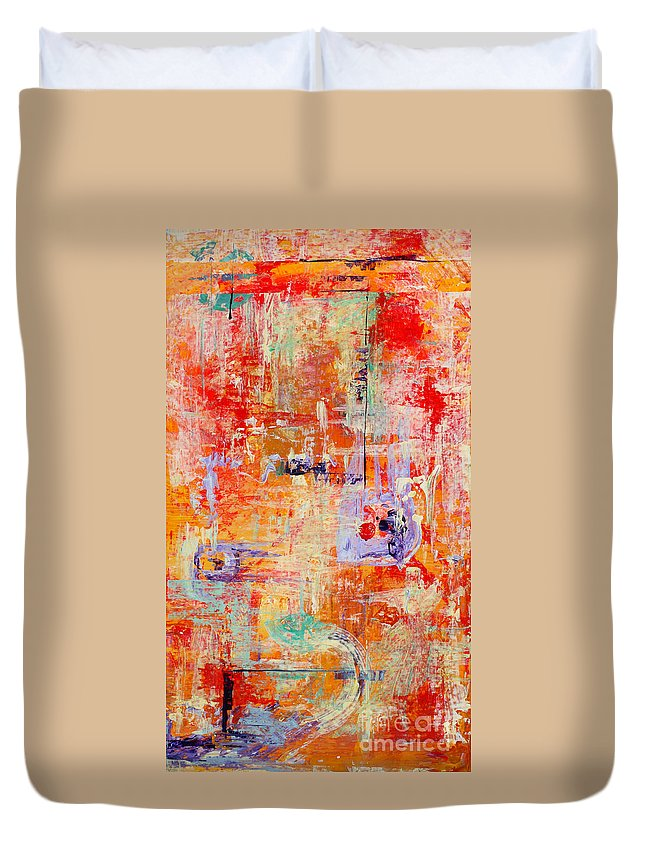 Large Format Painting Duvet Cover featuring the painting Crescendo by Pat Saunders-White