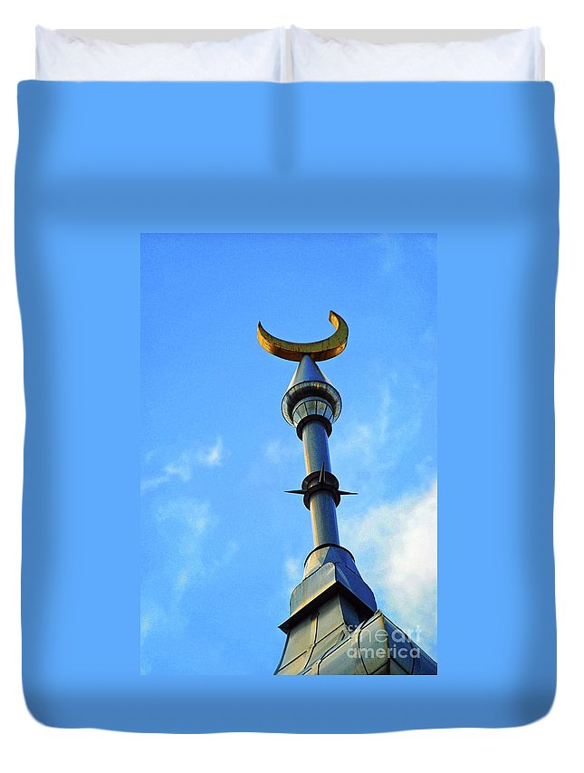 University Of Tampa Duvet Cover featuring the photograph Crescent Of The Day by Jost Houk