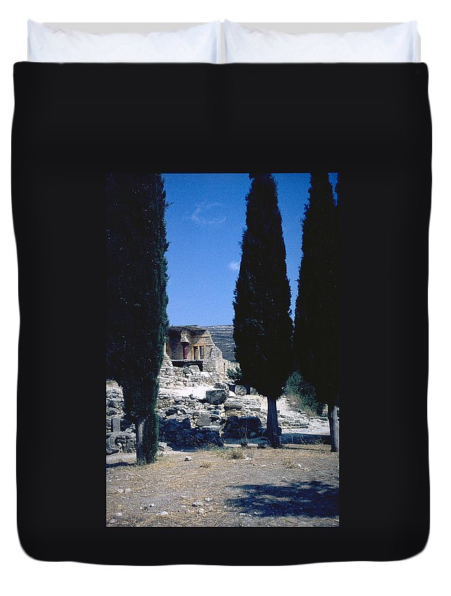 Crete Duvet Cover featuring the photograph Crete by Flavia Westerwelle
