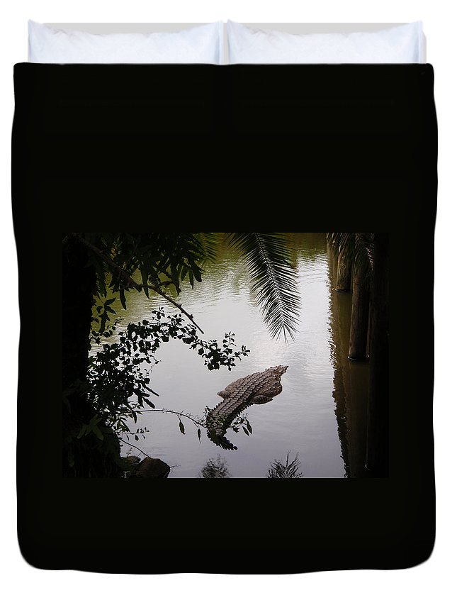 Croco Duvet Cover featuring the photograph Croco by Are Lund