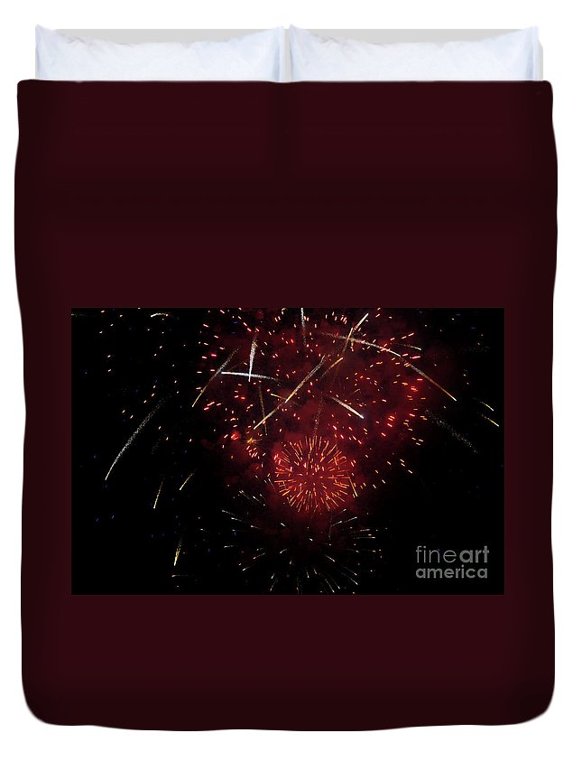 Clay Duvet Cover featuring the photograph Cross Fire by Clayton Bruster