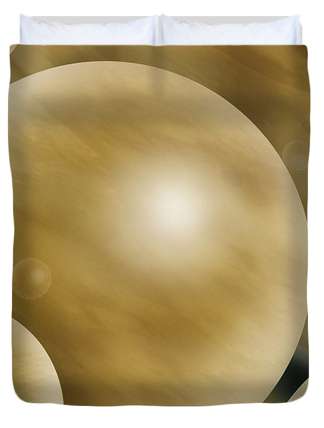 Abstract Duvet Cover featuring the photograph Crowded Universe by Mike McGlothlen