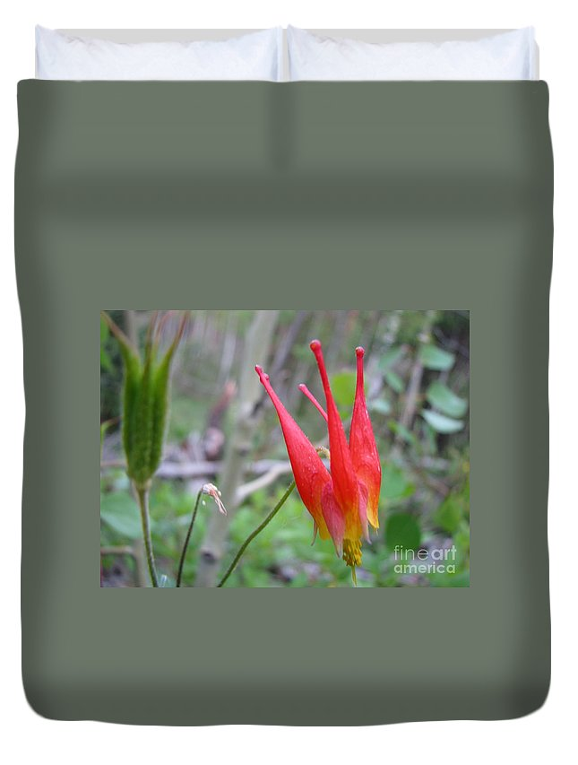 Flowers Of Colorado Duvet Cover featuring the photograph Crown by Amanda Barcon