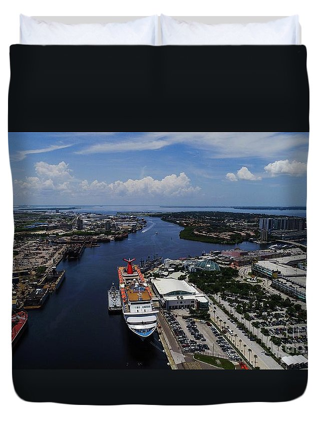 Cruise Duvet Cover featuring the photograph Cruise Ship by Patrick Donovan