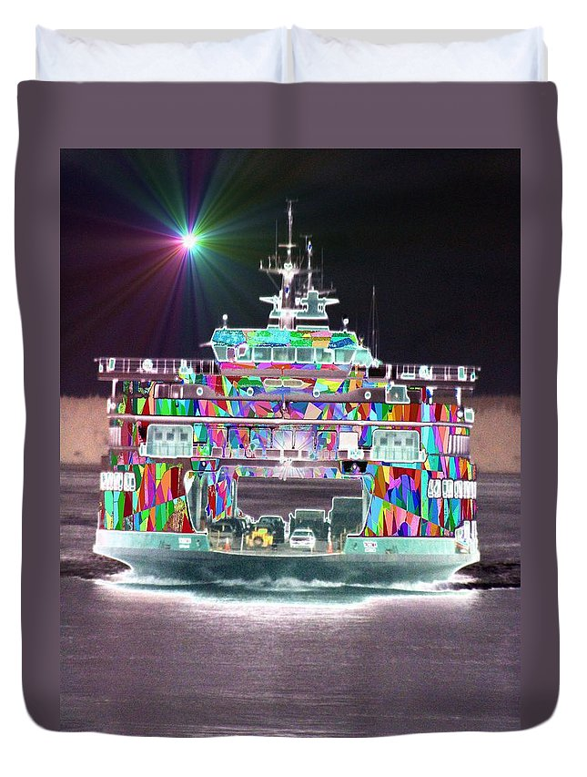 Abstract Duvet Cover featuring the photograph Cruisin by Tim Allen