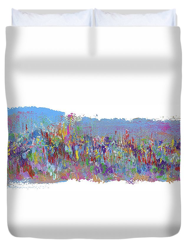 Crusade Duvet Cover featuring the painting Crusade by Bjorn Sjogren