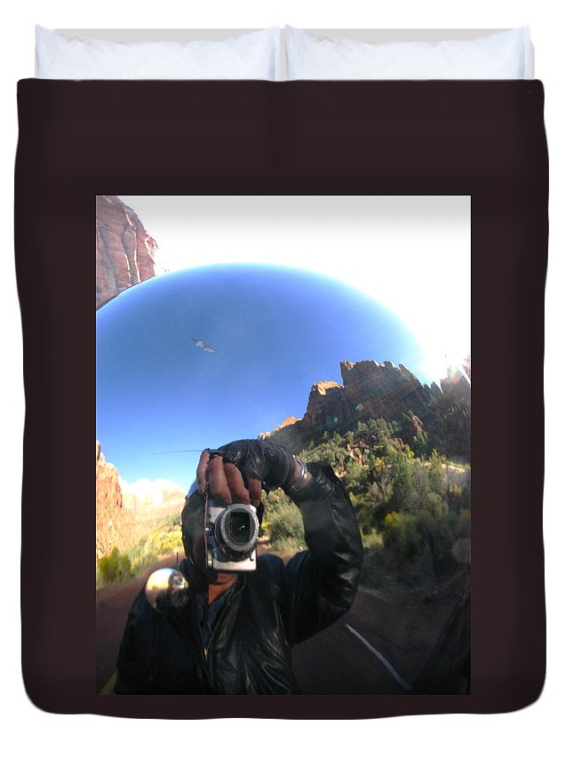 Zion Duvet Cover featuring the photograph Crusin' Zion by Cathy Franklin