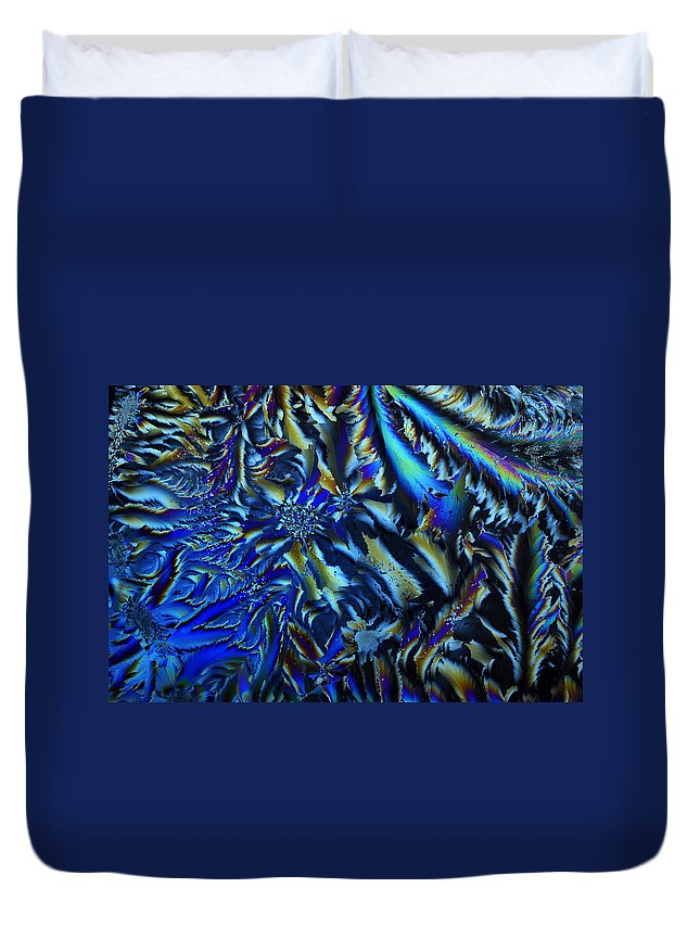 Crystal Duvet Cover featuring the photograph Crystal Blues by Carol Berget