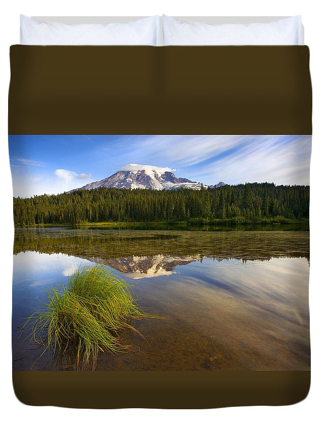 Lake Duvet Cover featuring the photograph Crystal Clear by Mike Dawson
