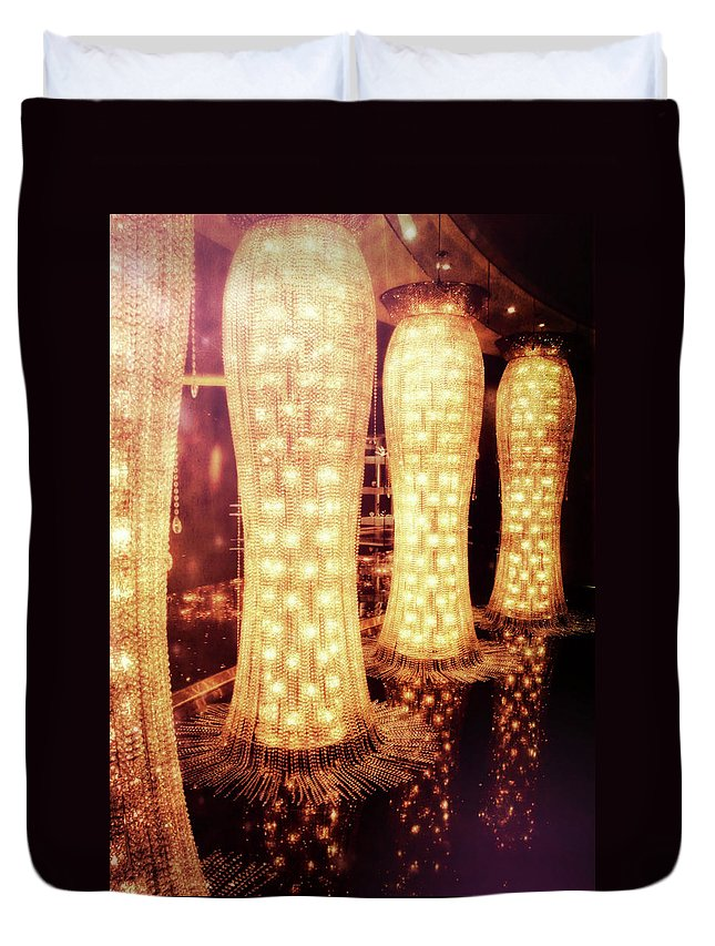 Vegas Duvet Cover featuring the photograph Crystal Dresses by JAMART Photography