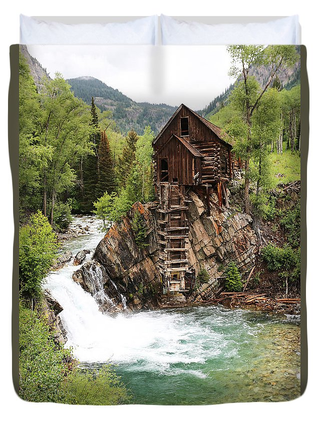 Crystal Mill Duvet Cover featuring the photograph Crystal Mill by Caroline Kelly