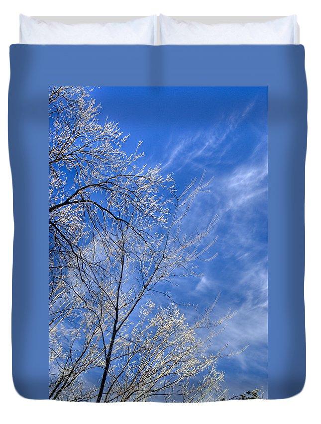 Crystalline Duvet Cover featuring the photograph Crystalline Sky by Douglas Barnett