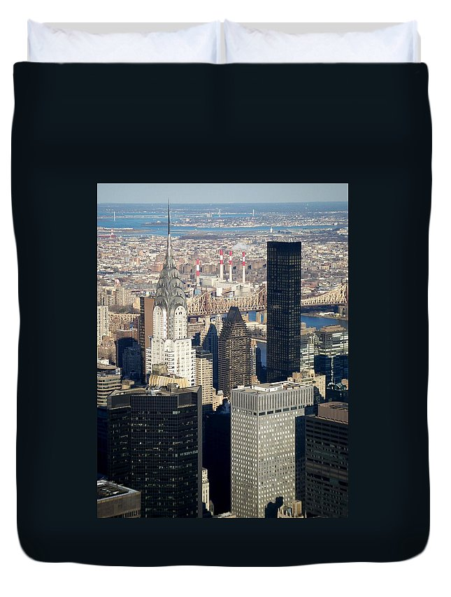 Crystler Building Duvet Cover featuring the photograph Crystler Building by Anita Burgermeister