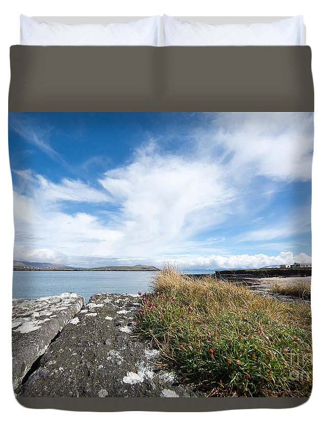 Cuan Duvet Cover featuring the photograph Cuan, Ireland by Smart Aviation