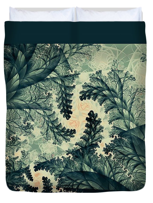 Plant Duvet Cover featuring the digital art Cubano Cubismo by Casey Kotas