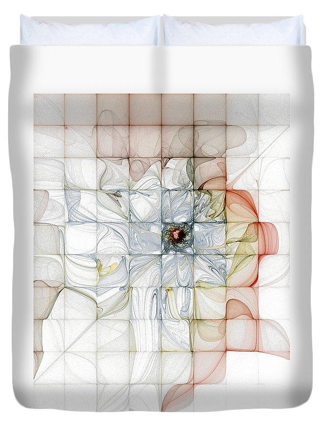 Digital Art Duvet Cover featuring the digital art Cubed Pastels by Amanda Moore