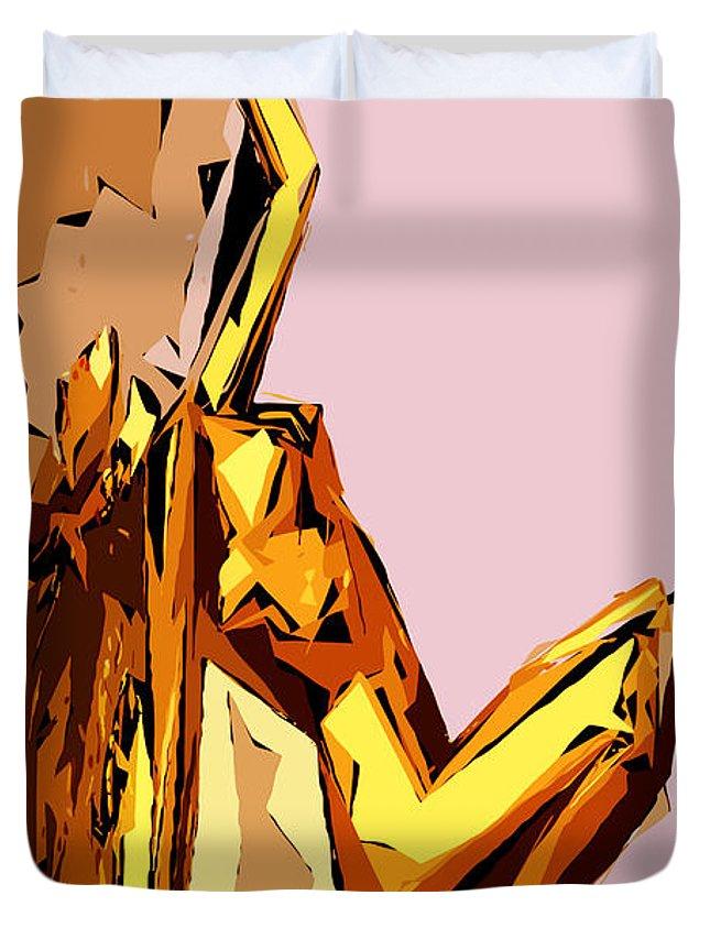 Female Duvet Cover featuring the digital art Cubism Series Xxi by Rafael Salazar
