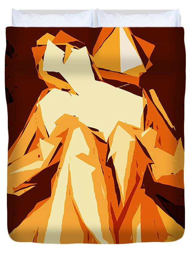 Female Duvet Cover featuring the digital art Cubism Series Xxii by Rafael Salazar