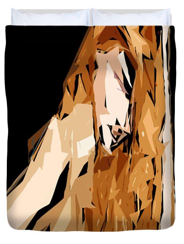Female Duvet Cover featuring the digital art Cubism Series Xxiv by Rafael Salazar