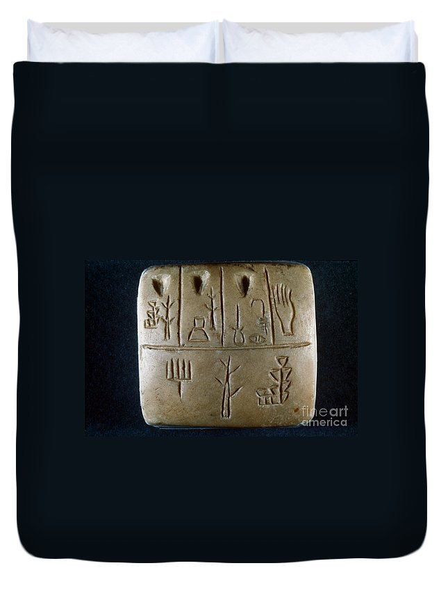 3rd Century B.c. Duvet Cover featuring the photograph Cuneiform by Granger