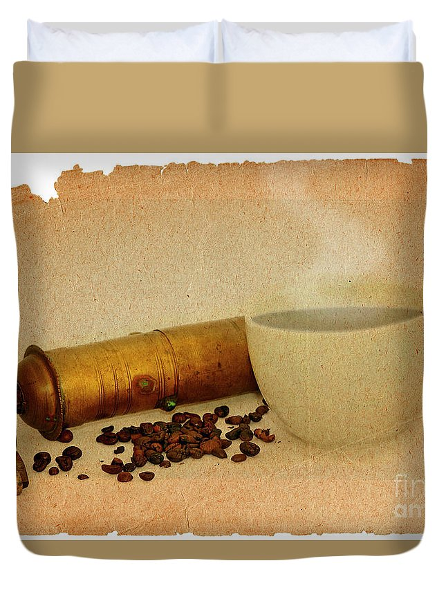 Kaffeeklatsch Duvet Cover featuring the digital art Cup Of Coffee by Michal Boubin