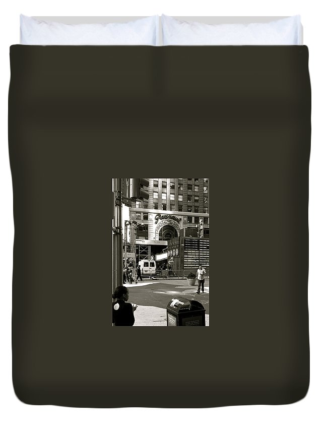 Girl Duvet Cover featuring the photograph Cup Of Coffee by Roland Irgang