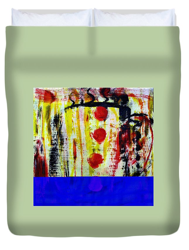 Coffee Duvet Cover featuring the painting Cup Of Java by Wayne Potrafka