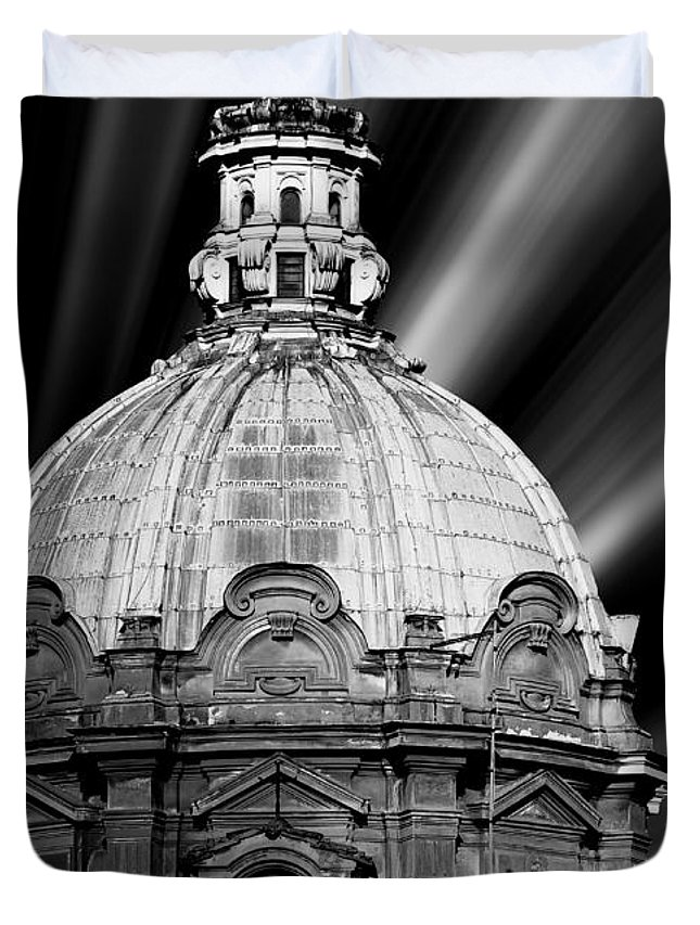 Architecture Duvet Cover featuring the photograph Cupola In Rome by Stefano Senise