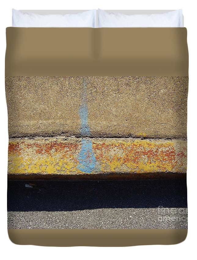 Abstract Duvet Cover featuring the photograph Curb by Flavia Westerwelle
