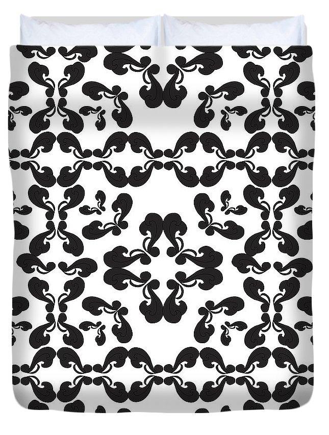 Curls Duvet Cover featuring the digital art Curls by Iara Falcao Lindback