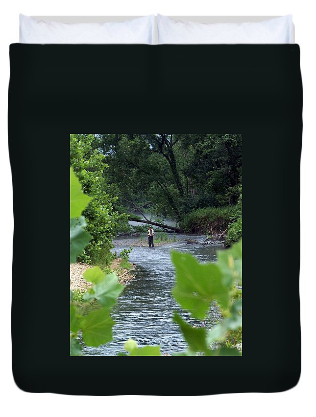 Current River Duvet Cover featuring the photograph Current River 5 by Marty Koch