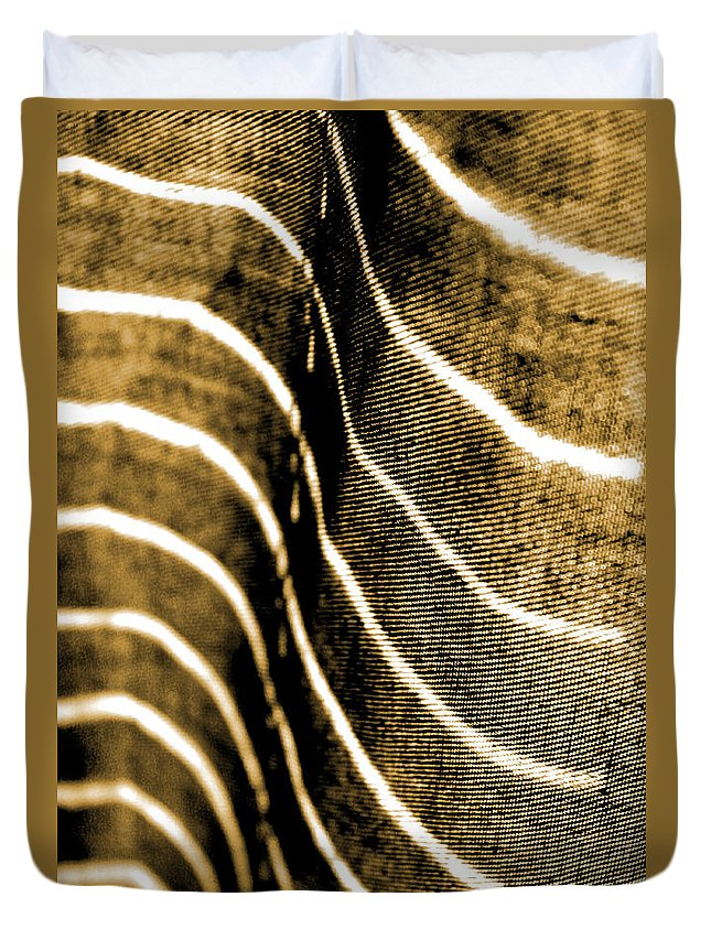 Abstract Duvet Cover featuring the photograph Curves And Folds by Todd Blanchard