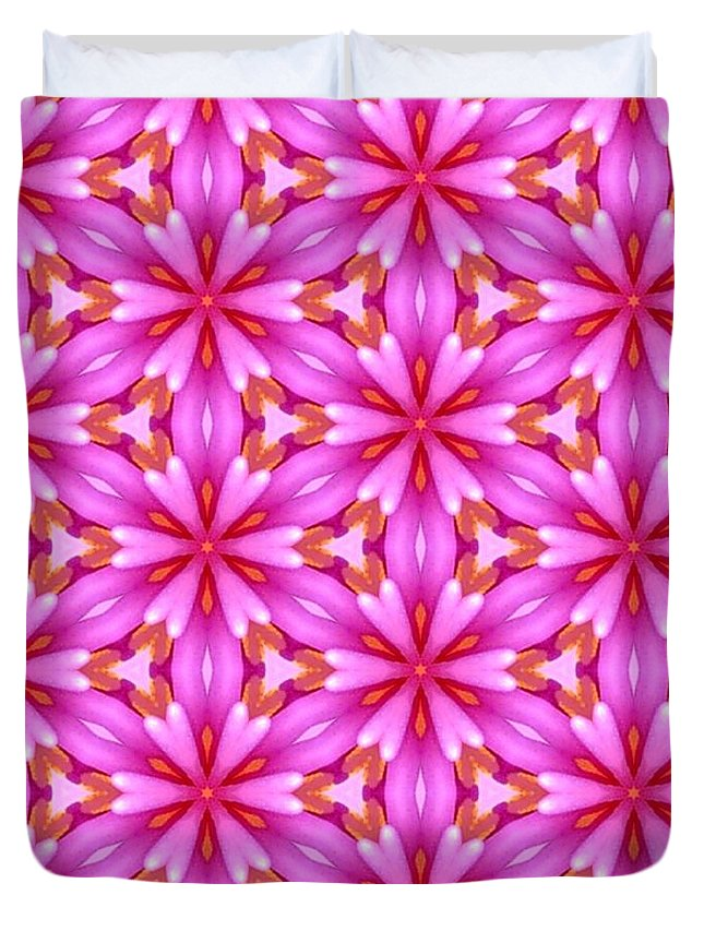 Cute Duvet Cover featuring the tapestry - textile Cute Pretty Elegant Pattern by Bimbys Collections