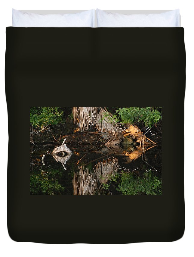 Sunset Duvet Cover featuring the photograph Cyclops In Color by Rob Hans
