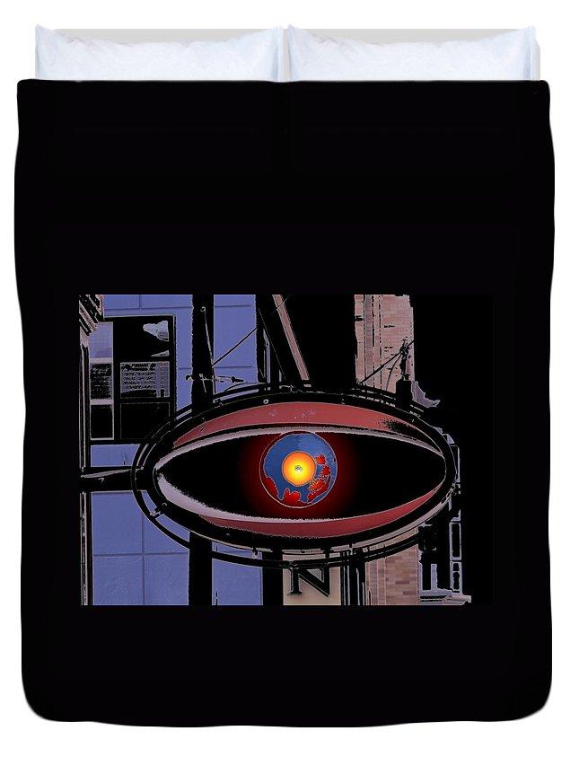 Seattle Duvet Cover featuring the digital art Cyclops by Tim Allen