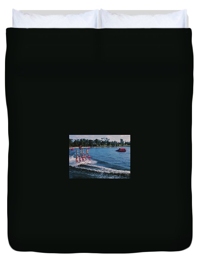 Cypress Duvet Cover featuring the photograph Cypress Gardens by JAMART Photography