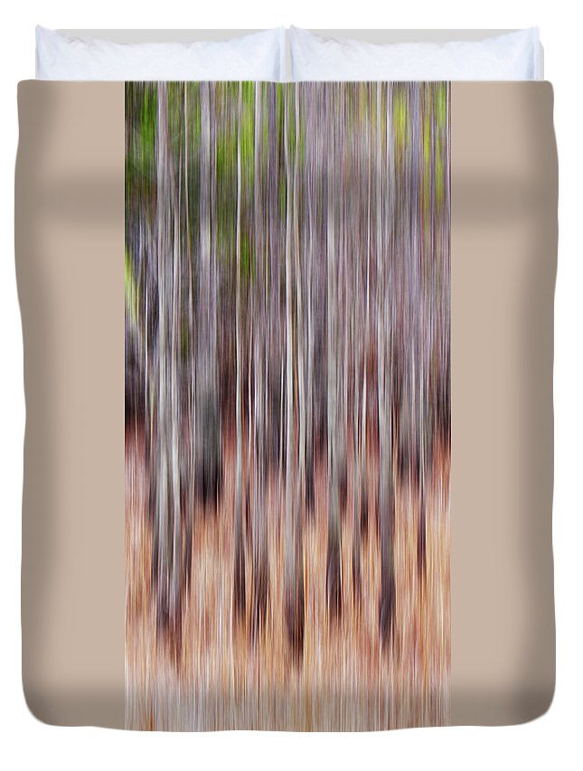 Cypress Duvet Cover featuring the digital art Cypress Grove Abstract by Francesa Miller