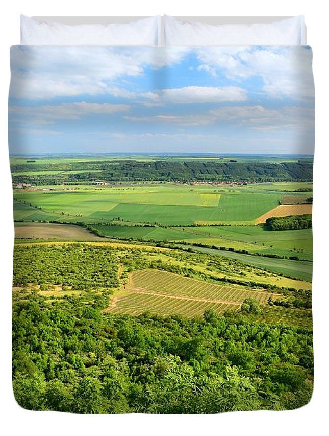 Czech Duvet Cover featuring the photograph Czech Central Mountains by Hamik ArtS