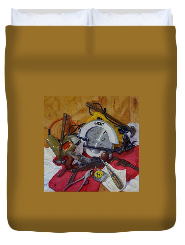 Realism Duvet Cover featuring the painting D. I. Y. 2  by Donelli DiMaria