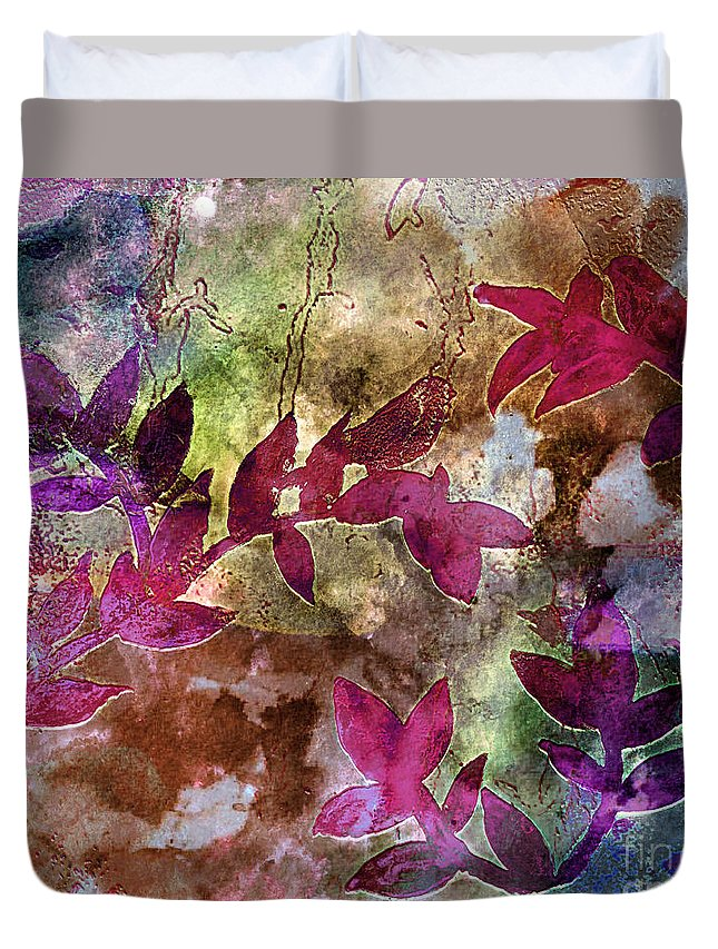 Abstract Duvet Cover featuring the painting D231116 by Mas Art Studio