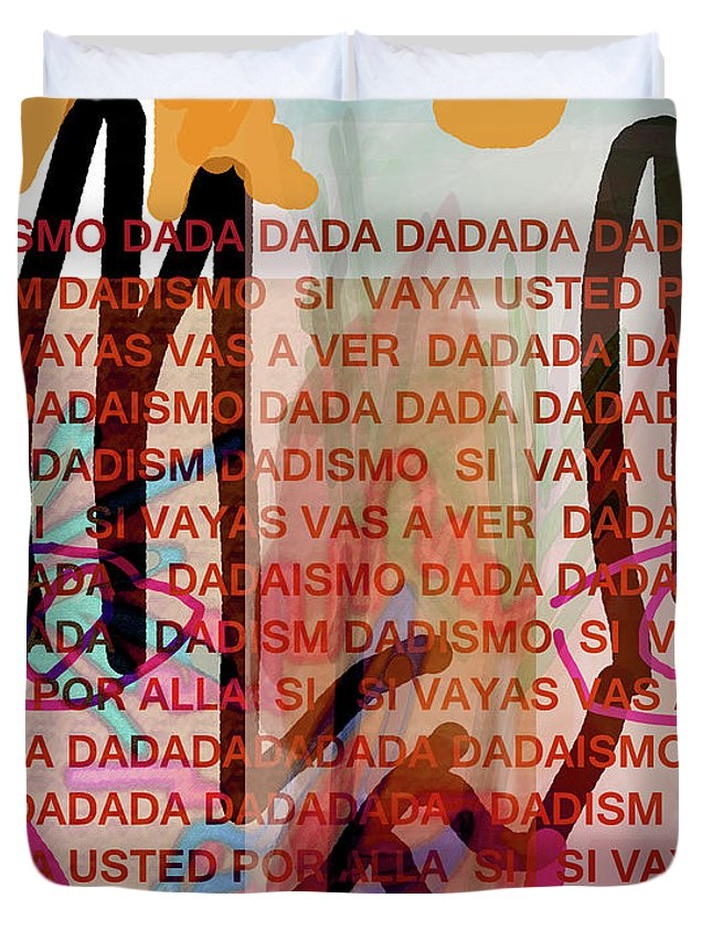 Dada Duvet Cover featuring the mixed media Dada Poster 2 by Paul Sutcliffe