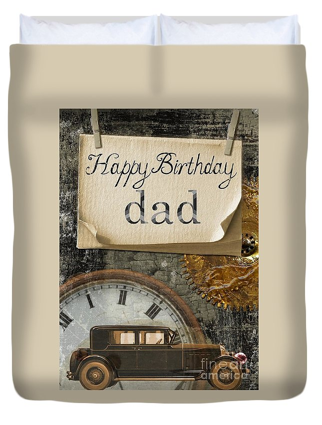 Witchcraft Duvet Cover featuring the digital art Dad's Birthday by Frederick Holiday