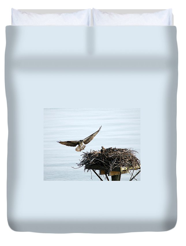 Clay Duvet Cover featuring the photograph Dads Home by Clayton Bruster