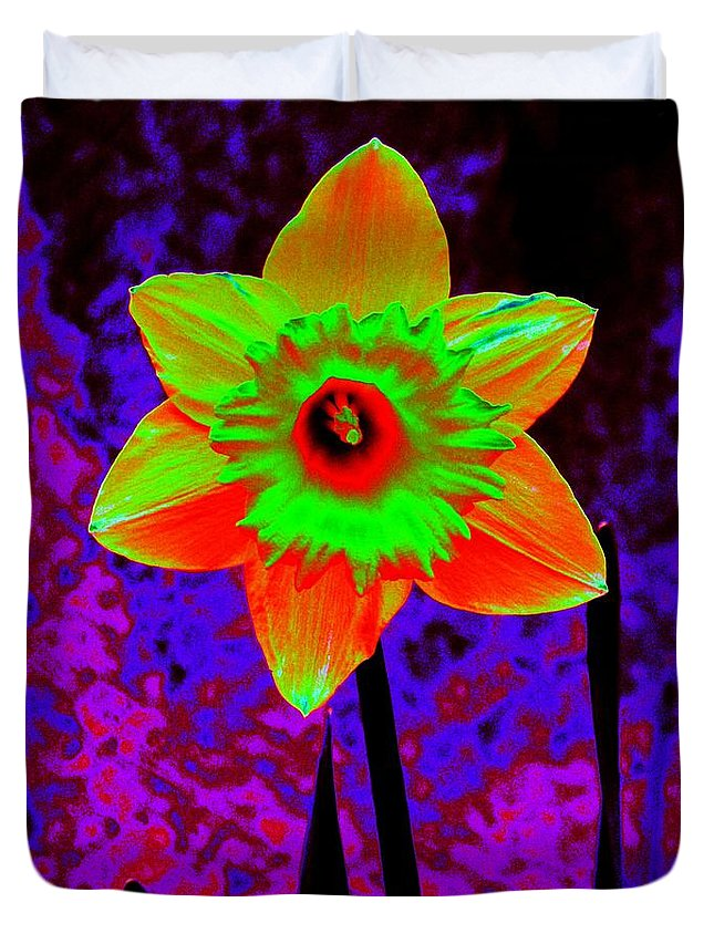 Daffodil Duvet Cover featuring the photograph Daffodil 2 by Tim Allen