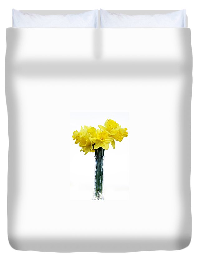 Daffodil Duvet Cover featuring the photograph Daffodil by Marilyn Hunt